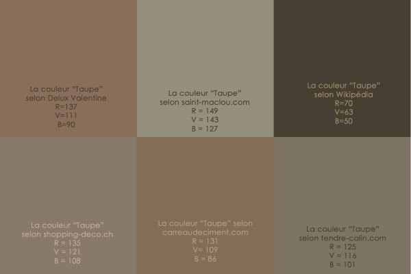 Blog satin taupe for Photo couleur taupe